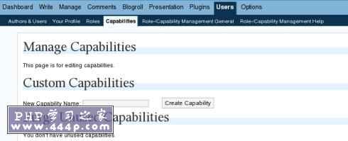 Role Manager for WordPress: Capability Management
