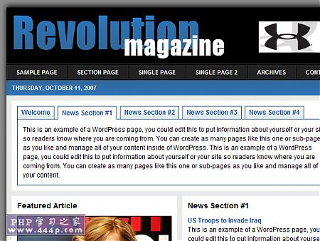 WP Premium Template: Revolution Magazine